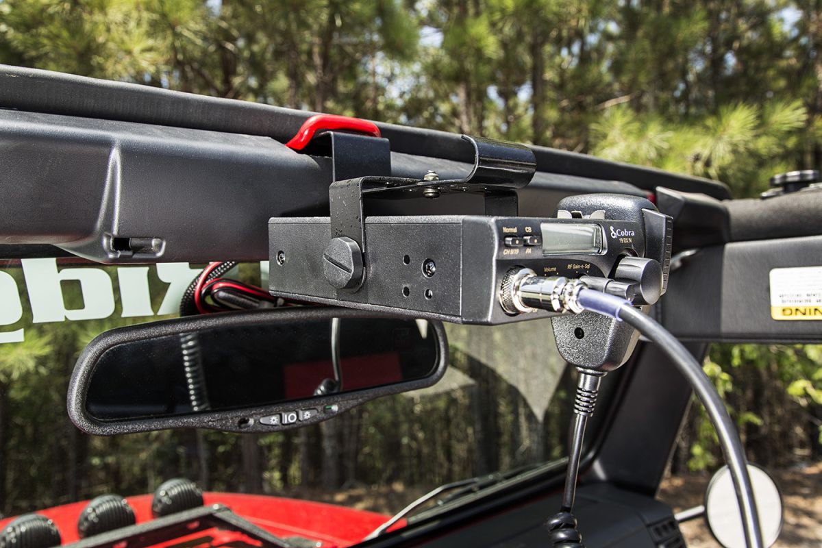 Halterung für CB Funkgerät oben am Scheibenrahmen Jeep Wrangler TJ ...