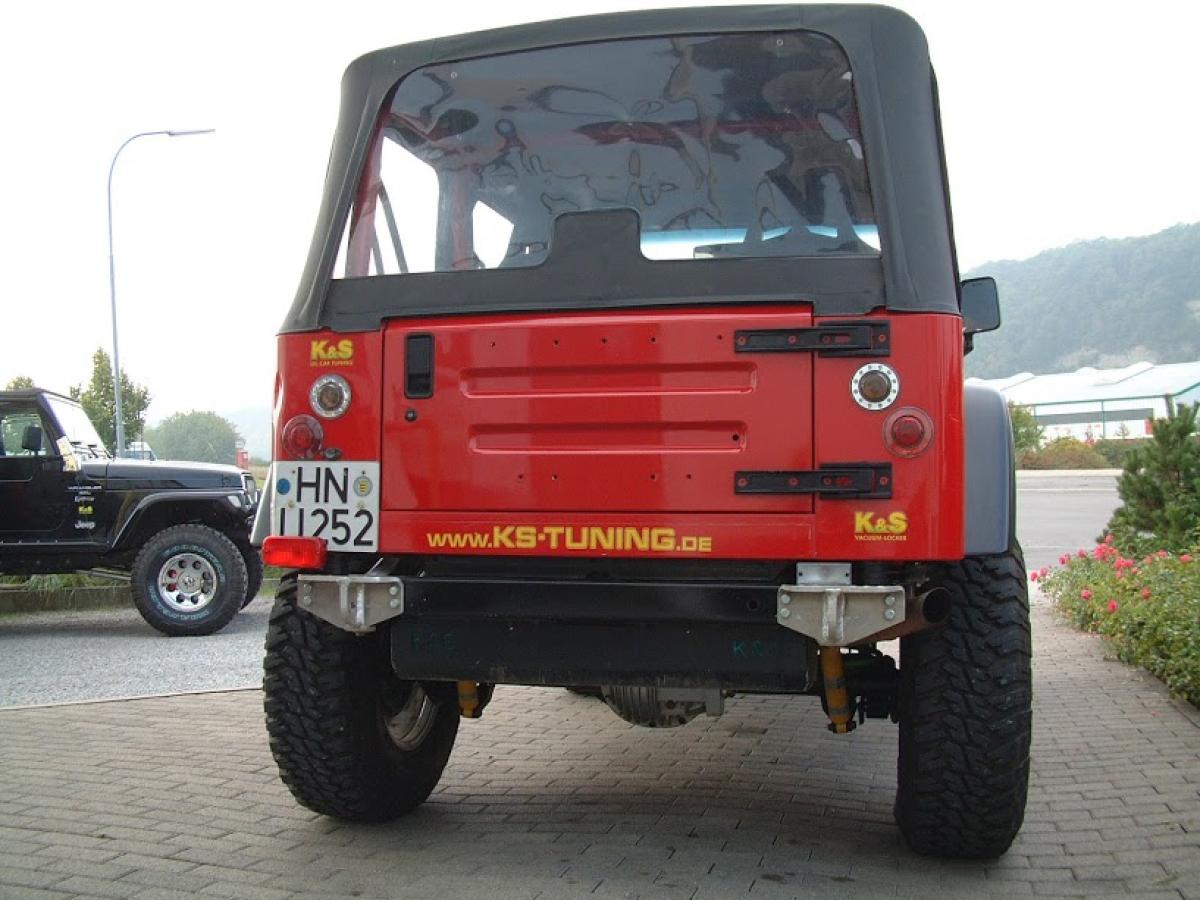 K+S Abschlepphaken HD verstärkt hinten rechts Jeep Wrangler TJ + YJ ...