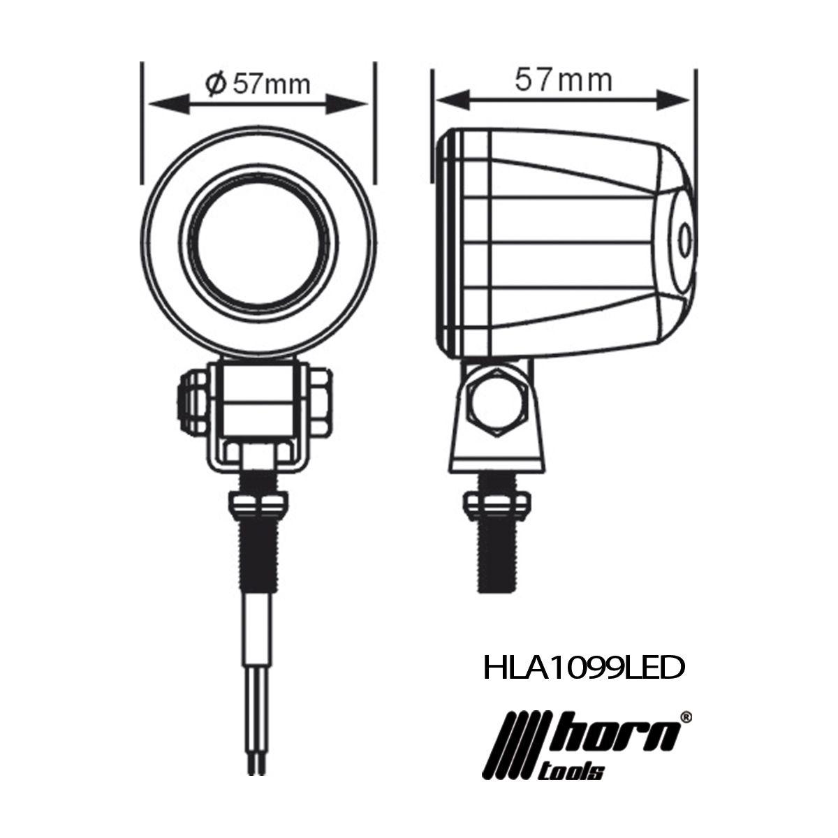 LED Scheinwerfer Offroad 10 W rund Arbeitsscheinwerfer - KS-TUNING