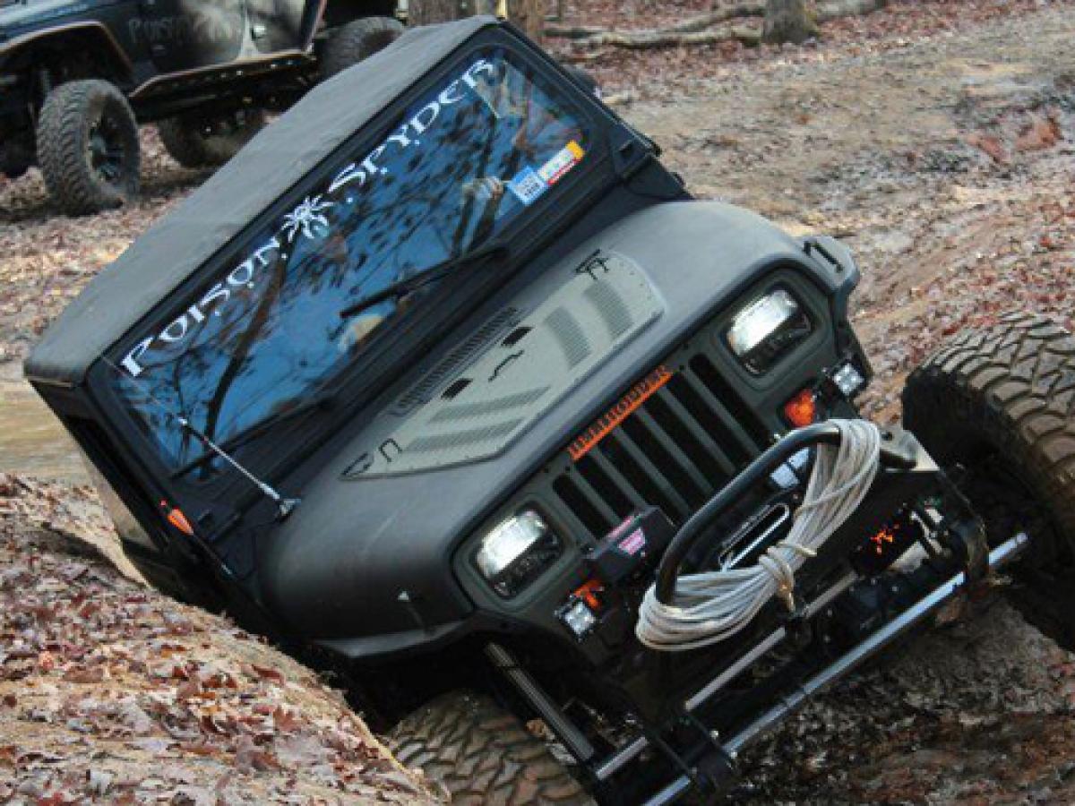 Motorhaubenschutz mit Lüftungsschlitzen Hood Louver Jeep Wrangler YJ ...
