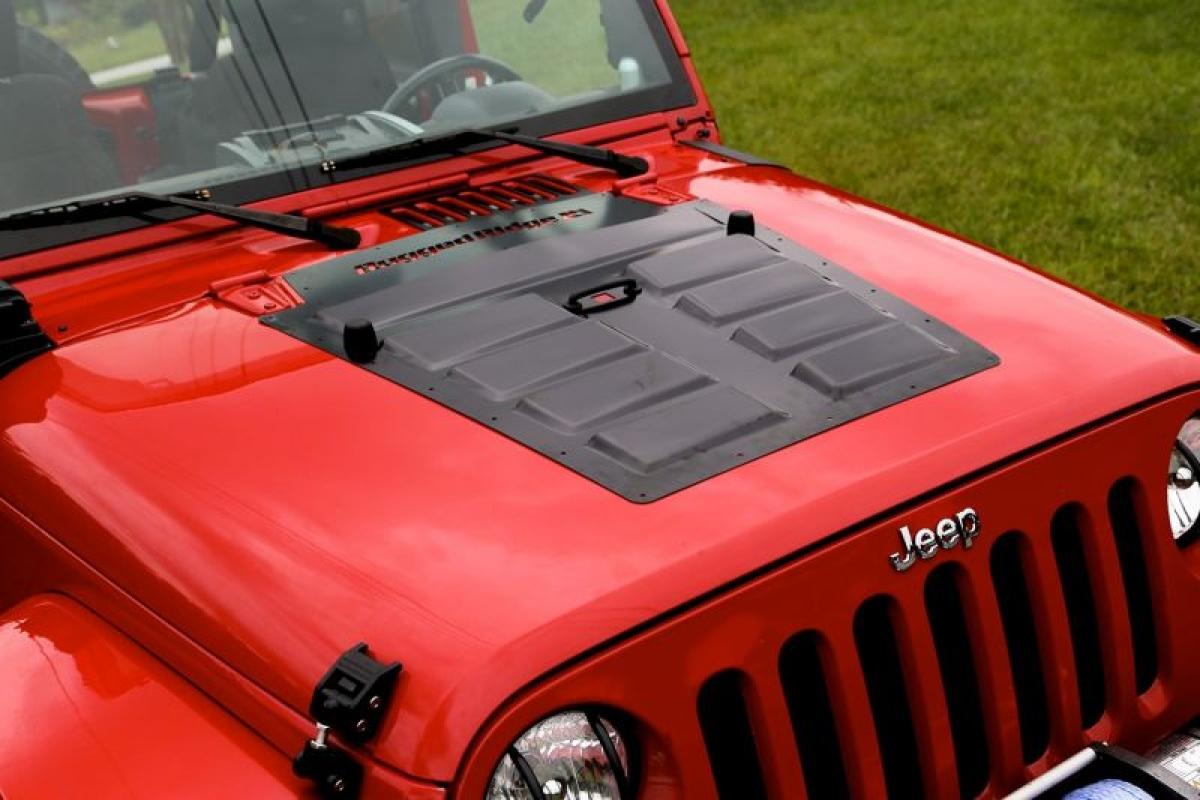 Motorhaubenschutz mit Lüftungsschlitzen Jeep Wrangler JK ab BJ 07 ...