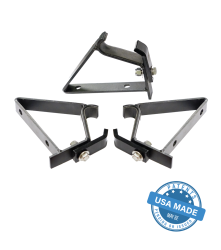 Dachträger Halter Gobi Set Jeep Wrangler JL 18- 4-Türer JEEP WRANGLER JL 18- 4Door FOXWING AWNING BRACKETS Triple Support Kit